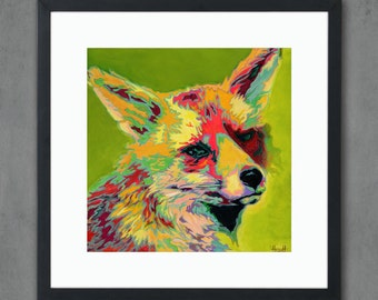Red Fox Giclee Art Print from Original Painting - Signed Limited Edition