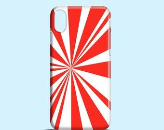 Red rays phone case / festive iPhone X case / red iPhone 8 Plus cover, iPhone 8, iPhone 7, iPhone 6, iPhone 5, 5S, SE, Samsung Galaxy S7, S6