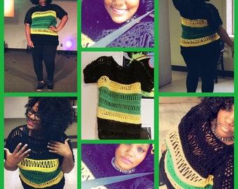 Custom Crocheted top