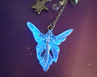 Glow in the Dark Silver Angel Bookmark or Rear View Mirror Charm Christmas gift hostess gift first communion angel lover!