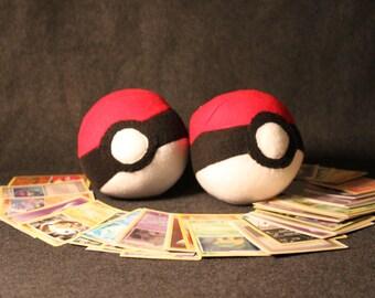 Pokemon inspired  plush Poke ball