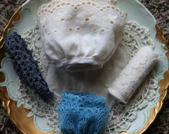 Blue and Cream Lace