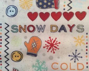 Snow Days Fabric