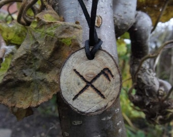 Gibu Auja rune necklace - Good luck and protection