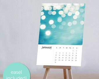 2018 calendar desk calendar with stand photography calendar with easel abstract art calendar bokeh calendar nautical calendar nautical decor