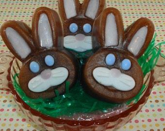 Easter Soap - Chocolate Bunny Soap - Glycerin Soap - Spring Soap - Easter Basket Soap - Party Favors - Artisan Soap - Rabbit Soap