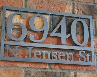 Modern House numbers / Steel house numbers / Craftsman house number /Address / House Address