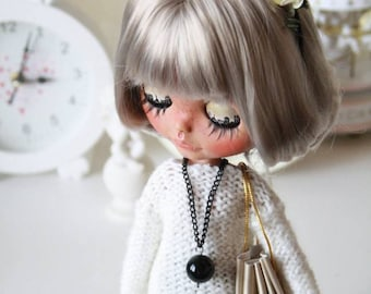 Aknitted sweater for 1/6 custom Blythe doll outfit Blythe doll clothes Handmade for custom doll dress