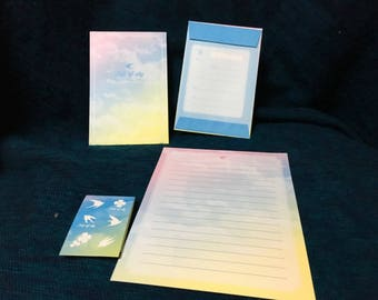 Beautiful trip of sky letter set from japan