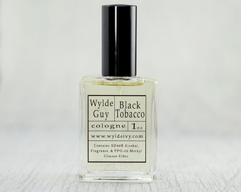 Black Tobacco Wylde Ivy Guy Men's Cologne 1oz with notes of Tobacco Leaves, Spice, Tea, and Amber