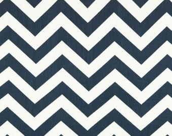 Premier Prints Zig Zag Twill in Blue Canvas Sold Per Half Yard