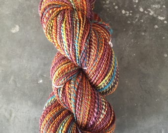 "Sport Weight Handspun Yarn ""Sunshine and Wine"""