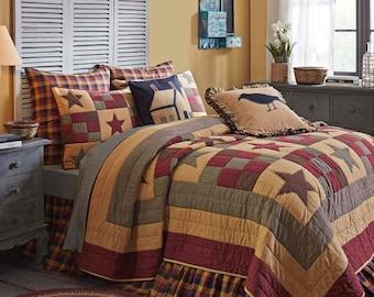Hazelwood King Quilt Set/ BONUS free bed skirt with purchase