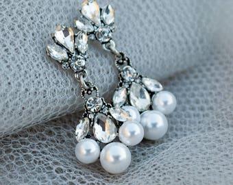 Lily Earrings, Wedding Earrings, Bridal Earrings