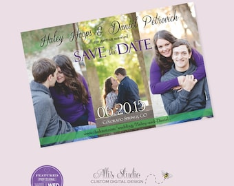 Save the Date Magnet with Photo Montage, 4x6 Save the Date Photo Magnet