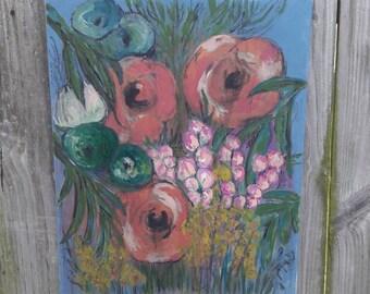 A Flower Story Mixed Media Art