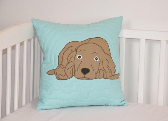 Cocker Spaniel Pillow, Decorative Dog Cushion, Cute Animal Gift