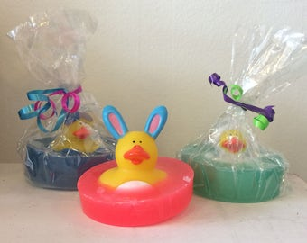 Natural Soap, Easter Rubber Duck, Your Choice of Pink Grapefruit, Lavender, or Lime 4.5 oz. by Green Bubble Gorgeous on etsy