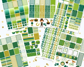 50% OFF!!! DIY March Printable Planner Stickers Monthly Kit 700+ Stickers pdf and 7 jpeg