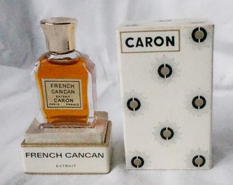 French Cancan Caron 8 ml vintage perfume bottle inbox