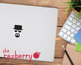 Heisenberg Breaking Bad Walter White MacBook Vinyl Sticker Decal Macbook Decal Vinyl Sticker Macbook Pro Sticker Cover Beard Laptop Sticker