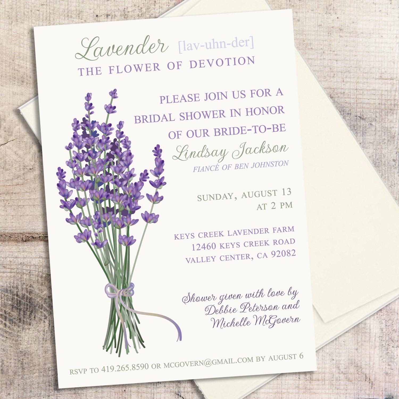 Lavender Wedding Invitation Printable Invitation Purple