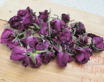 15 Beautiful Mini Red Roses Dried for Crafts Candles Potpourri
