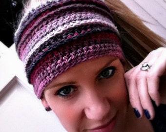 Head Wrap Crochet Pattern No.805 Digital Download PDF File Headband Hairband Hair Wrap