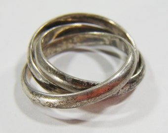 Vintage 3 Silver 925 Rings Size 7