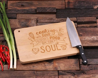 Personalized Wood Cutting Chopping Board or Cheese, Bread Tray Engraved Monogrammed Thanksgiving, Christmas Family Reunion (024186)