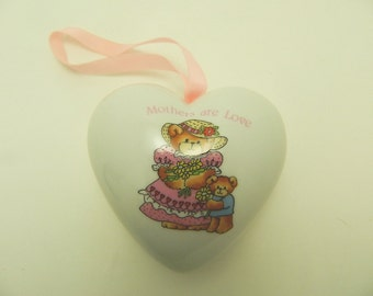 Enesco Hanging Heart Pomandor - Potpourri -  Sachet Holder - Lucy Rigg - Mother's Are Love - CLEARANCE SALE