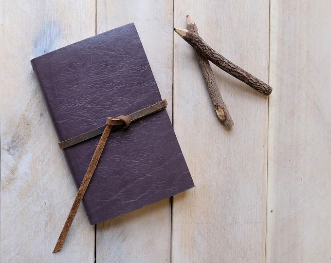 Classic Artist's Leather Watercolor Sketchbook - Heather Gray