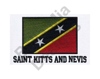 Saint Kitts And Nevis Flag - Machine Embroidery Design