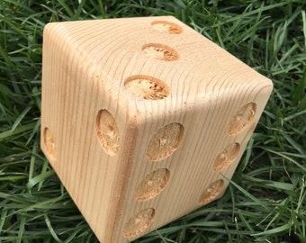 Premium unpainted cedar yard dice for Yardzee