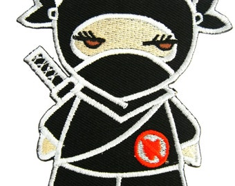 Ninja SD Embroidered Applique Iron on Patch