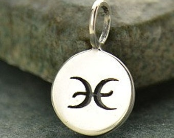 PISCES 925 Sterling Silver Zodiac Charm - Add A Chain Option Avaliable - Insurance Included