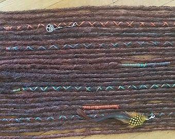 Tree of Life Dreads Set Auburn Reds and Brown