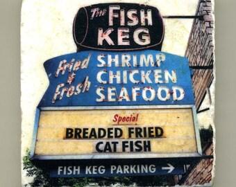 The Fish Keg - Original Coaster
