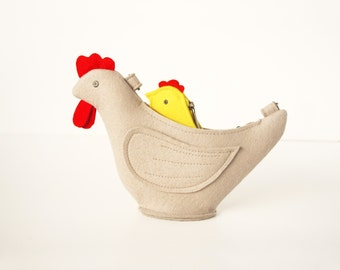 Chicken Purse Small Felt Children Bag