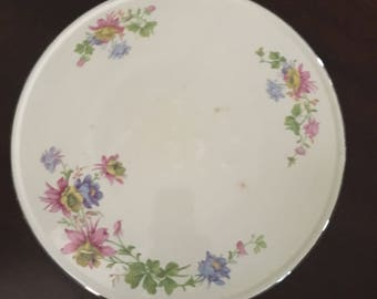 Homer laughlan floral cake plate