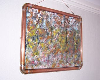 Artistic design with an industrial twist frame