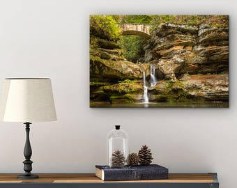 Ohio Photography Canvas - Nature Photography Print - Fall Landscape Print - Gift For The Home - Waterfall Picture - Ohio Art - Hocking Hills