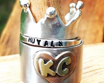KC Royals Crown Stacking Rings