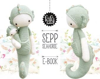SEPP the seahorse • lalylala crochet pattern / amigurumi