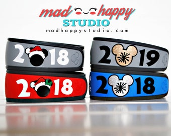 Holiday Years Magic Band Decal Christmas New Years Eve