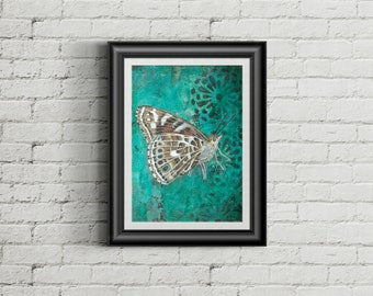 A Short Visit - Giclee Fine Art Print Mixed Media Painting