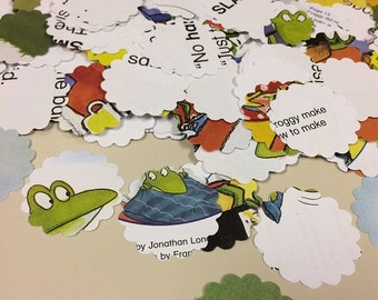 Froggy Confetti Handmade Embellishments Over 200 Punches - Rippy Bits by TangoBrat