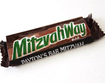 MITZVAH WAY Personalized Candy Wrappers
