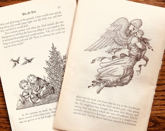 Vintage Book Pages / Anderson's Fairy Tales / Hans Christian Anderson / Junk Journal