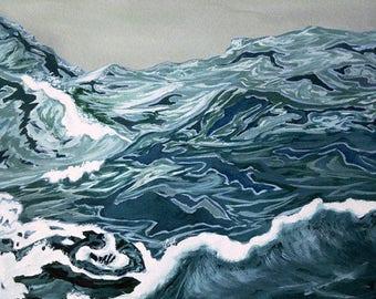 Ocean Vortex Archival Giclée Print - Abacus Corvus